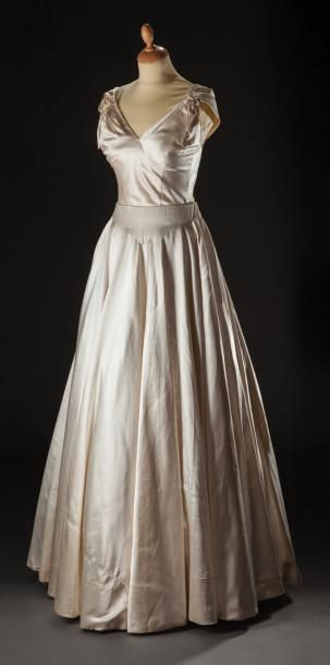 LANVIN Mid 1950s 2 piece evening dress