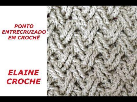 Como fazer ponto alto duplo cruzado em crochê - YouTube  169c156b22f