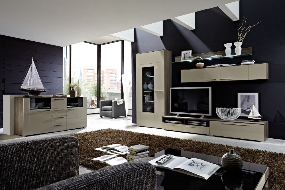 leonardo sideboard esche sandgrau oder wei hochglanz. Black Bedroom Furniture Sets. Home Design Ideas