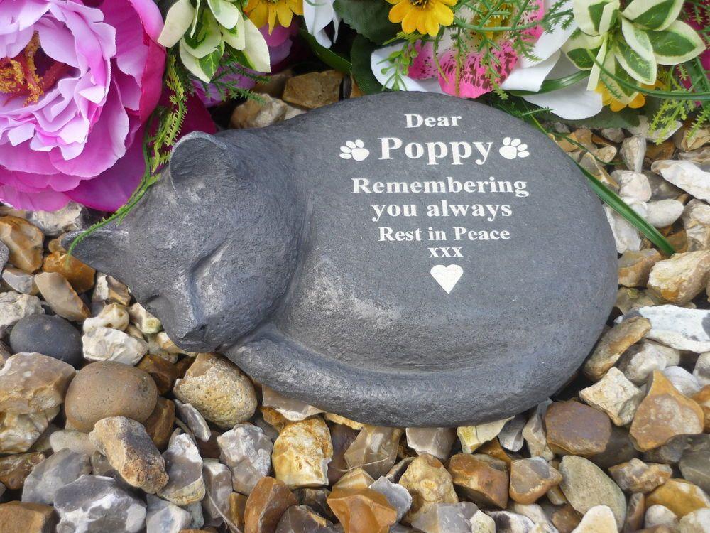 Cat Memorial (Stone Effect, Personalised & Weatherproof