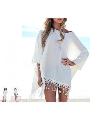 Vestito Copricostume Donna Mini Dress Caftano Cover up Kaftan COV0014