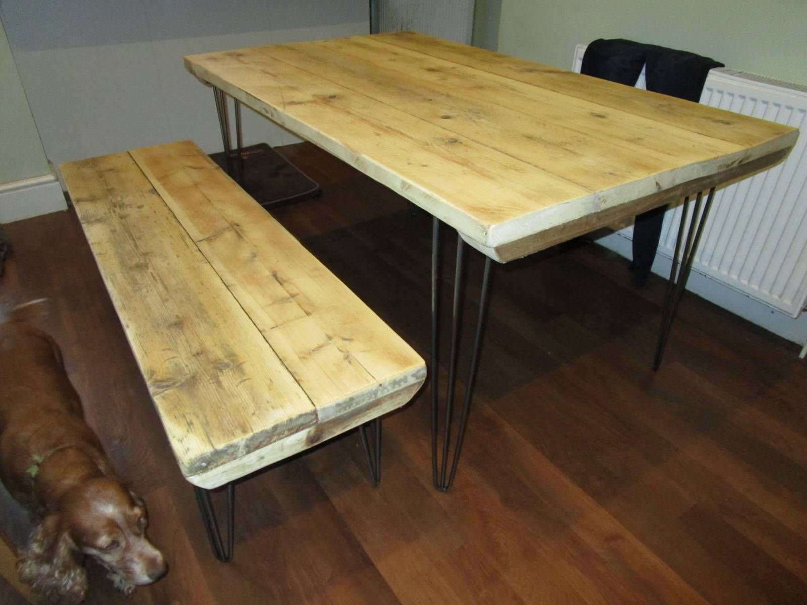 Reclaimed Wood Dining Table, Kitchen Table, Table,Hairpin Leg Table, Industrial