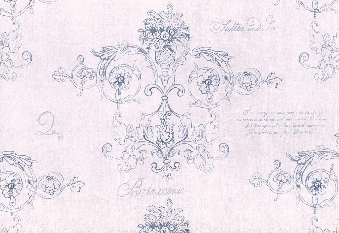 Rasch Textil Tapeten VINTAGE DIARY Tapete Landhaus Stil 255088 Rosen weiß braun