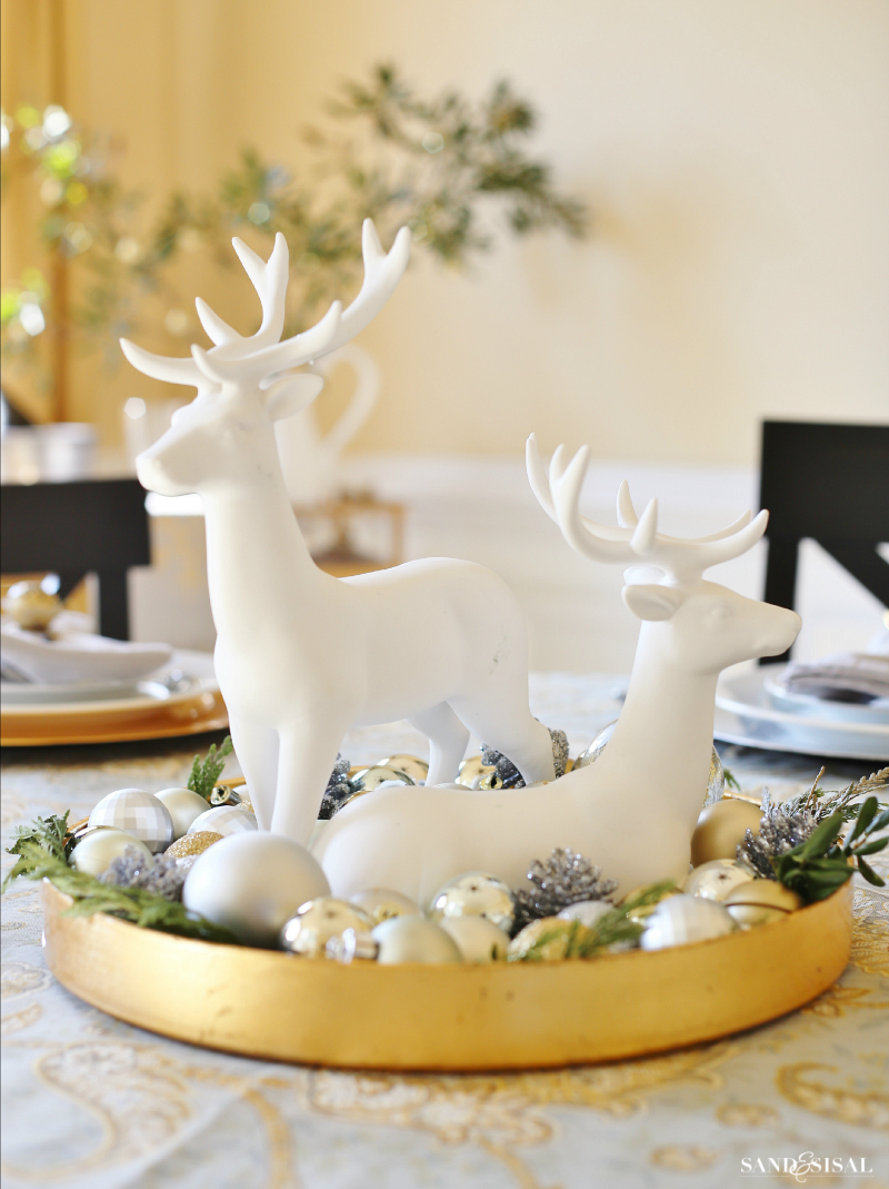 Christmas Dining Room Tour Christmas Reindeer Decorations Fun Christmas Decorations Christmas Tabletop