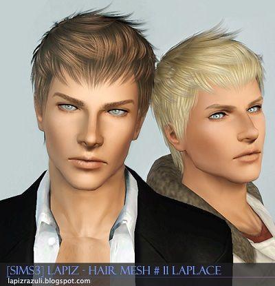 My Sims 3 Blog Lapiz Lazuli Laplace Hair Mesh 11 Sims Sims Hair Sims 3