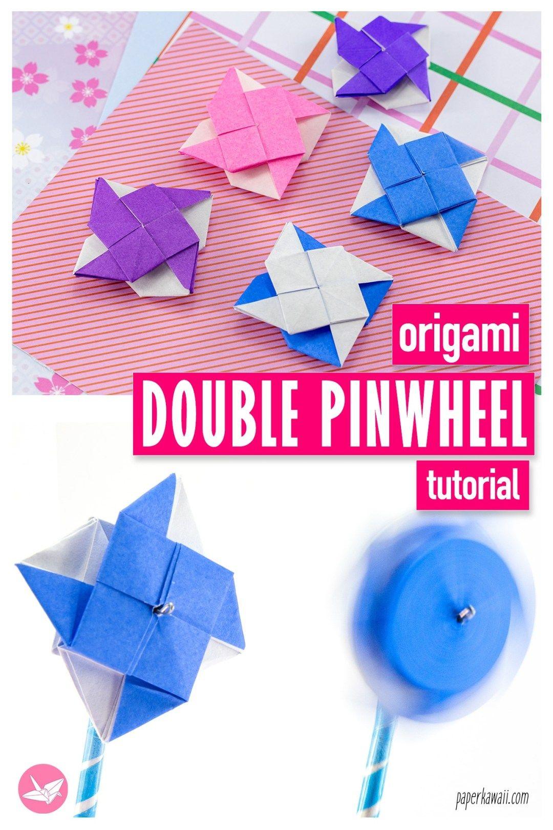 Photo of 2 Sided Origami Pinwheel Tutorial – Paper Kawaii