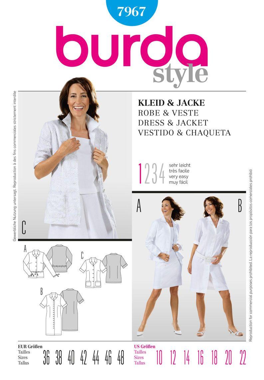 Simplicity creative group burda style dress u jacket coat and