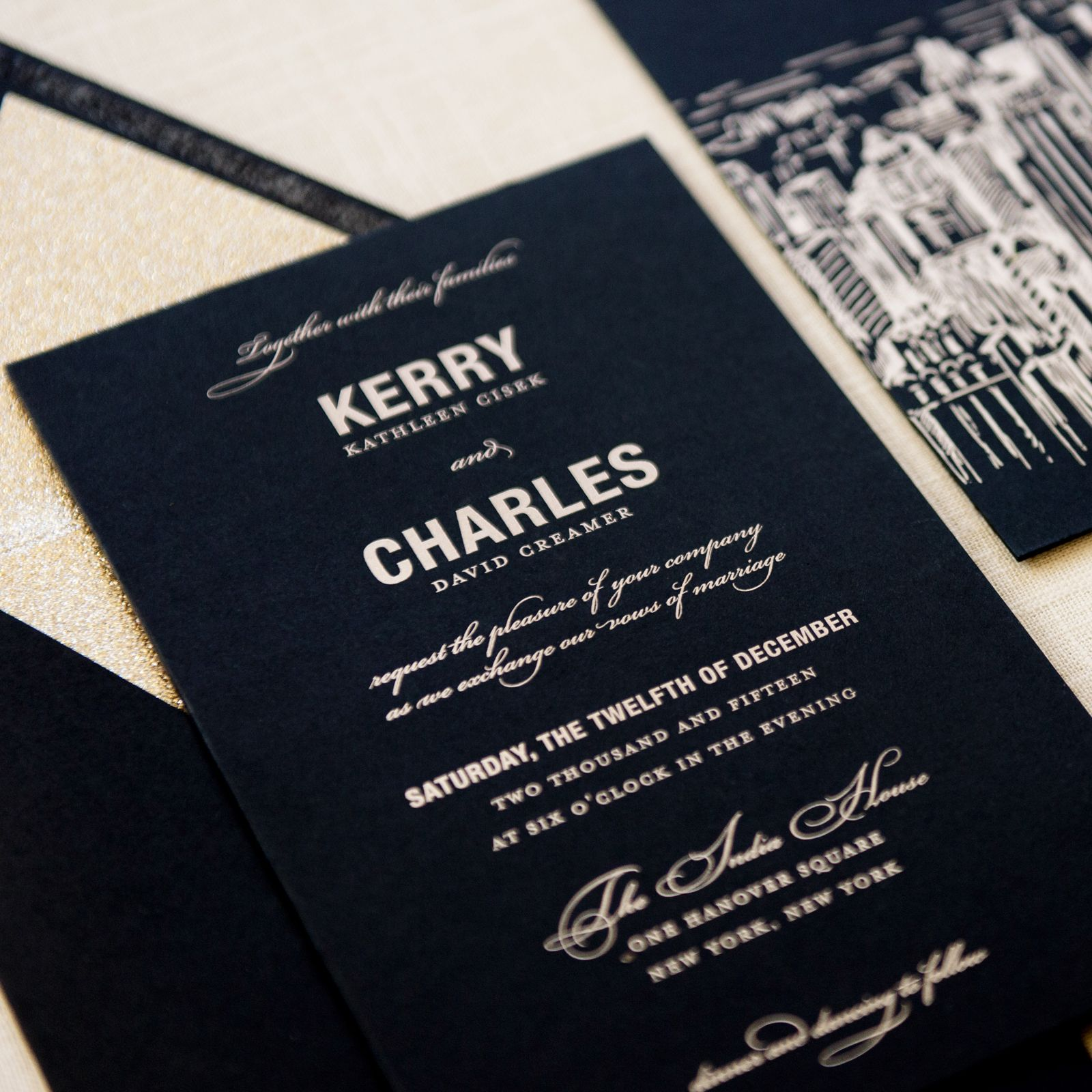 Modern Wedding Invitation - Kerry Wedding Invitation | Destination ...