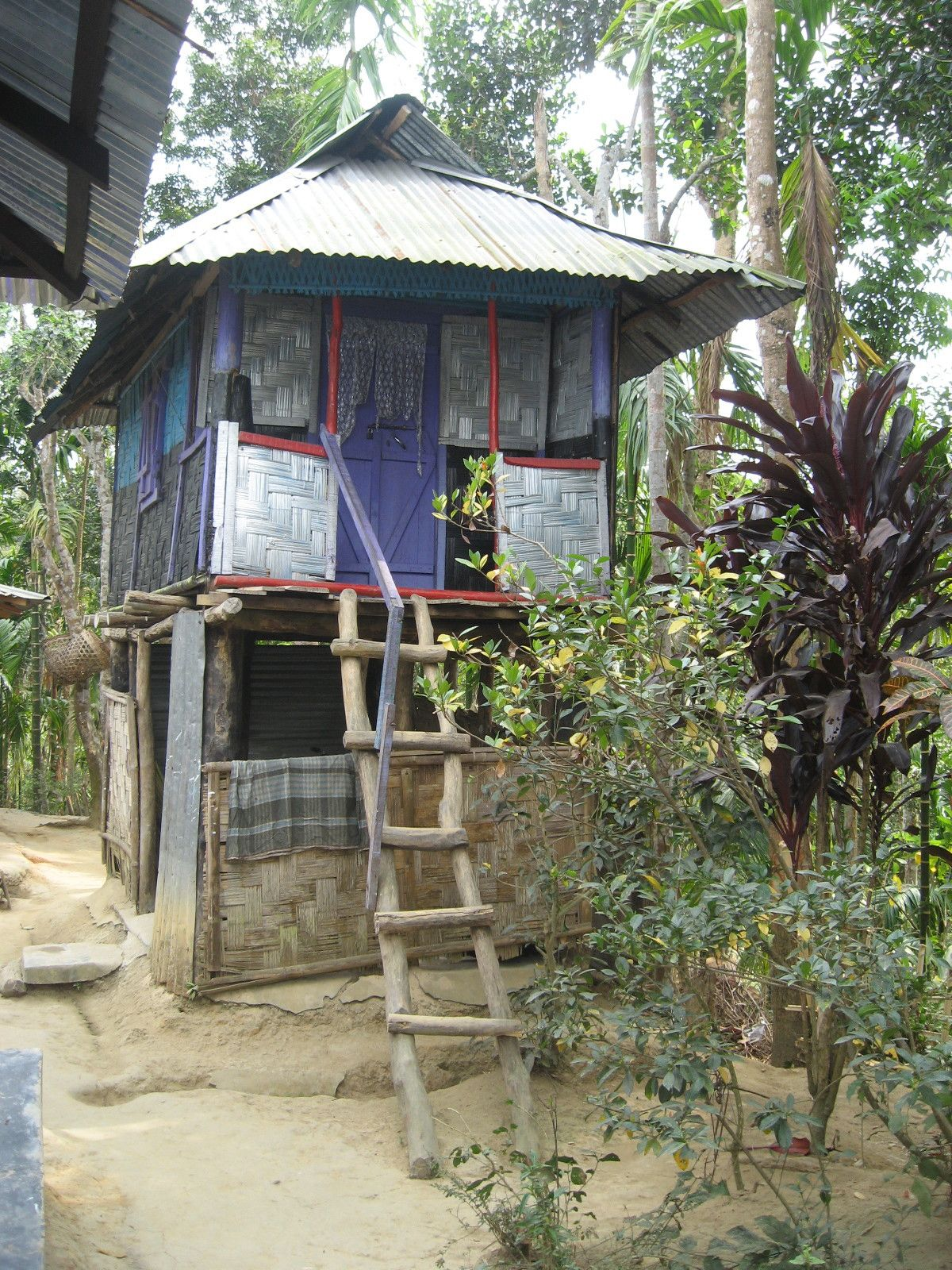 Tiny houses on stilts - Lawachara Indigenous Villages House On Stiltstiny