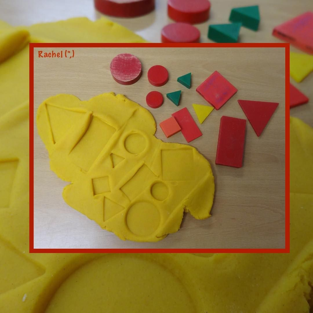 Printing With Shapes Is Fun The Children Enjoyed Printing