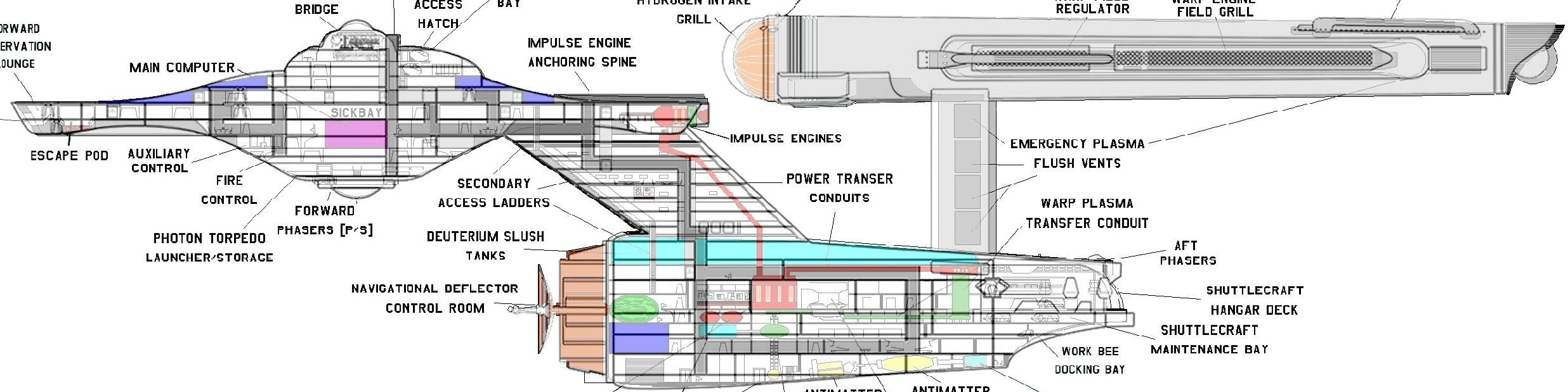 Schematic Of Constitution Class Starship
