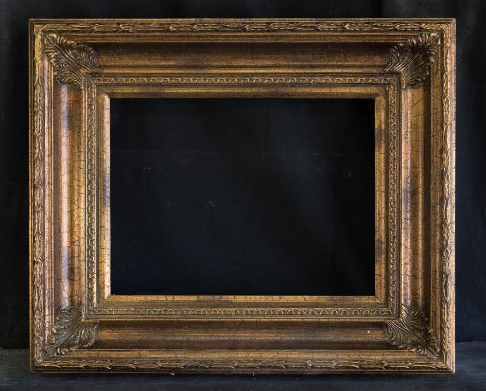 Antique Reproduction Ornate Gold Frame 12 X 16 4 Wide 2 1 2 Thick Baroque Frame Gold Frame Antiques