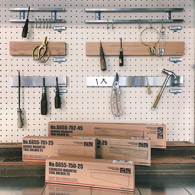 """【Recommend】 磁石の力で金属製品がぴたっとくっ付きます。 工具以外にも、ガーデンツールやキッチンツール、鍵をぶら下げたりなど見せる収納として大活躍! """"Bridge magnetic tool holder"""" W.25mm/¥2,300+税 W.450mm/¥3,400+税 """"Bamboo magnetic tool holder"""" W.25mm/¥2,700+税 W.45mm/¥4,200+税 """"Stainless magnetic tool holder"""" W.25mm/¥2,600+税 W.45mm/¥3,600+税  #dulton_osaka#dulton#interior#display#tool#magnet#kitchentools#garage  #ダルトン#ファクトリーサービス#ディスプレイ#インテリア#インテリア雑貨#マグネット#キッチンツール#ガレージ#大阪#東淀川#上新庄#工具#作業場  Yummery - best recipes. Follow Us! #kitchentools #kitchen"""