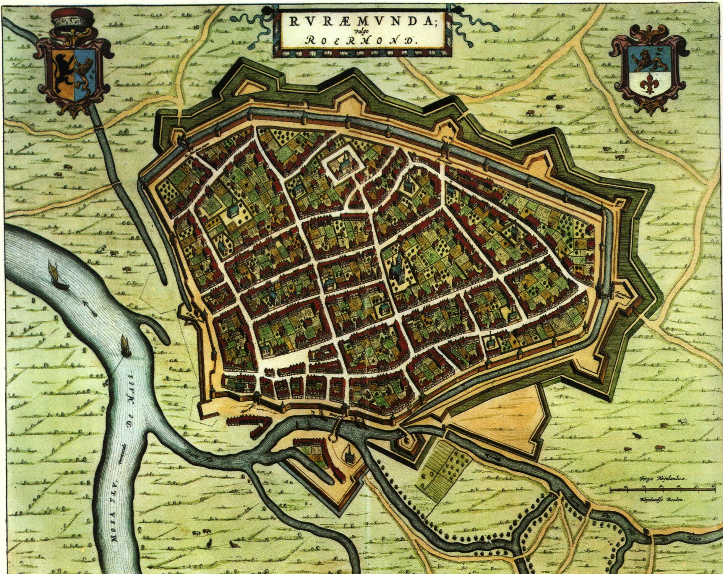 Blaeu Atlas: Roermond ca 1662, Netherlands.