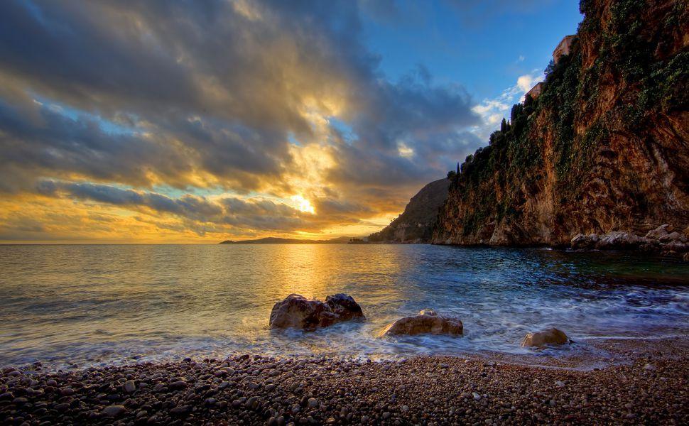 Cote D Azur Hd Wallpaper Sunset Images Beach Wallpaper