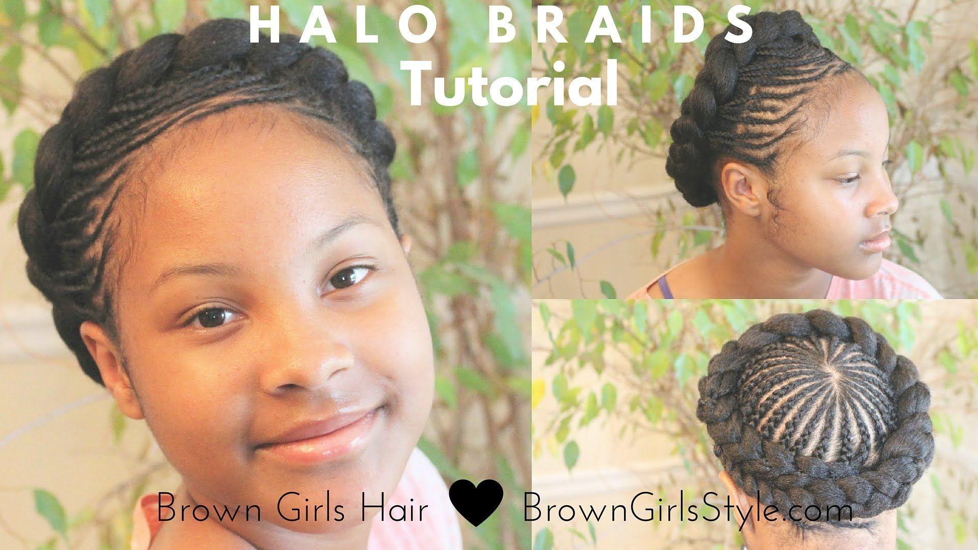 Halo Braid Tutorial Natural Hair Kids Protective Styles Braids