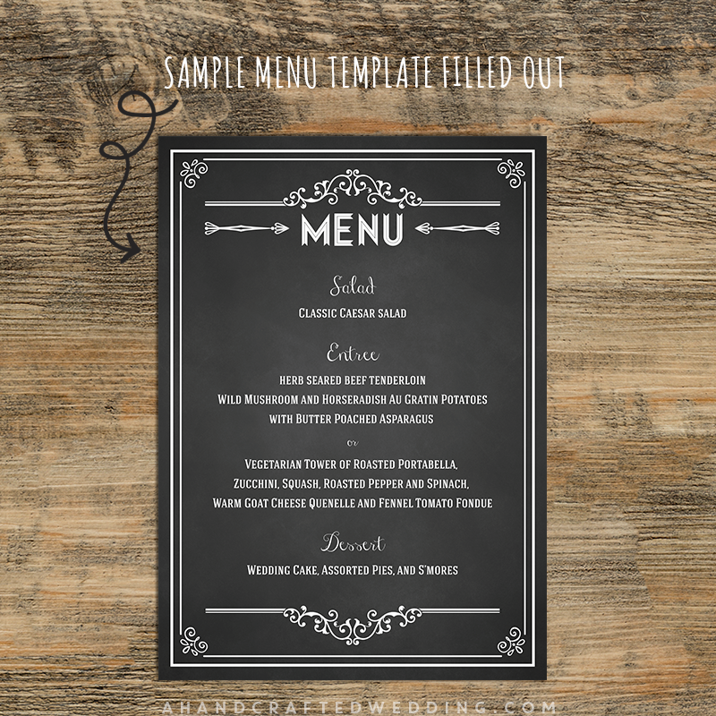 Wedding Menu Chalkboard  Google Search  Chalkboard Ideas