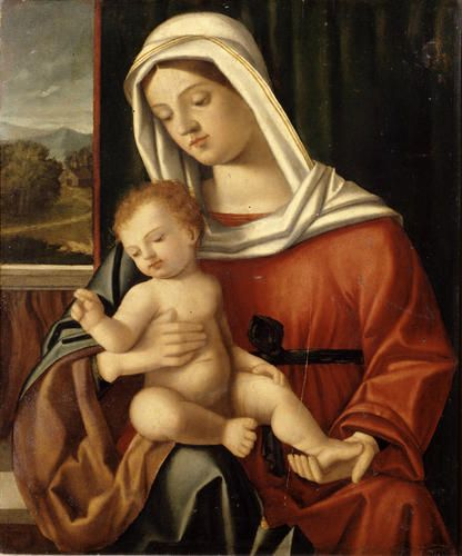 Maestro di Dossena - Madonna con Bambino - 1530 - Accademia Carrara di Bergamo Pinacoteca