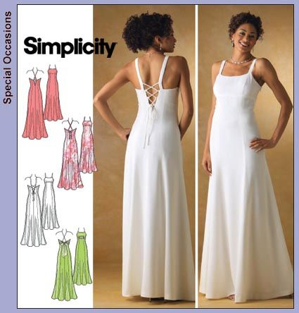 Simplicity Dress Patterns | Simplicity 3619 Retro/Vintage Evening ...