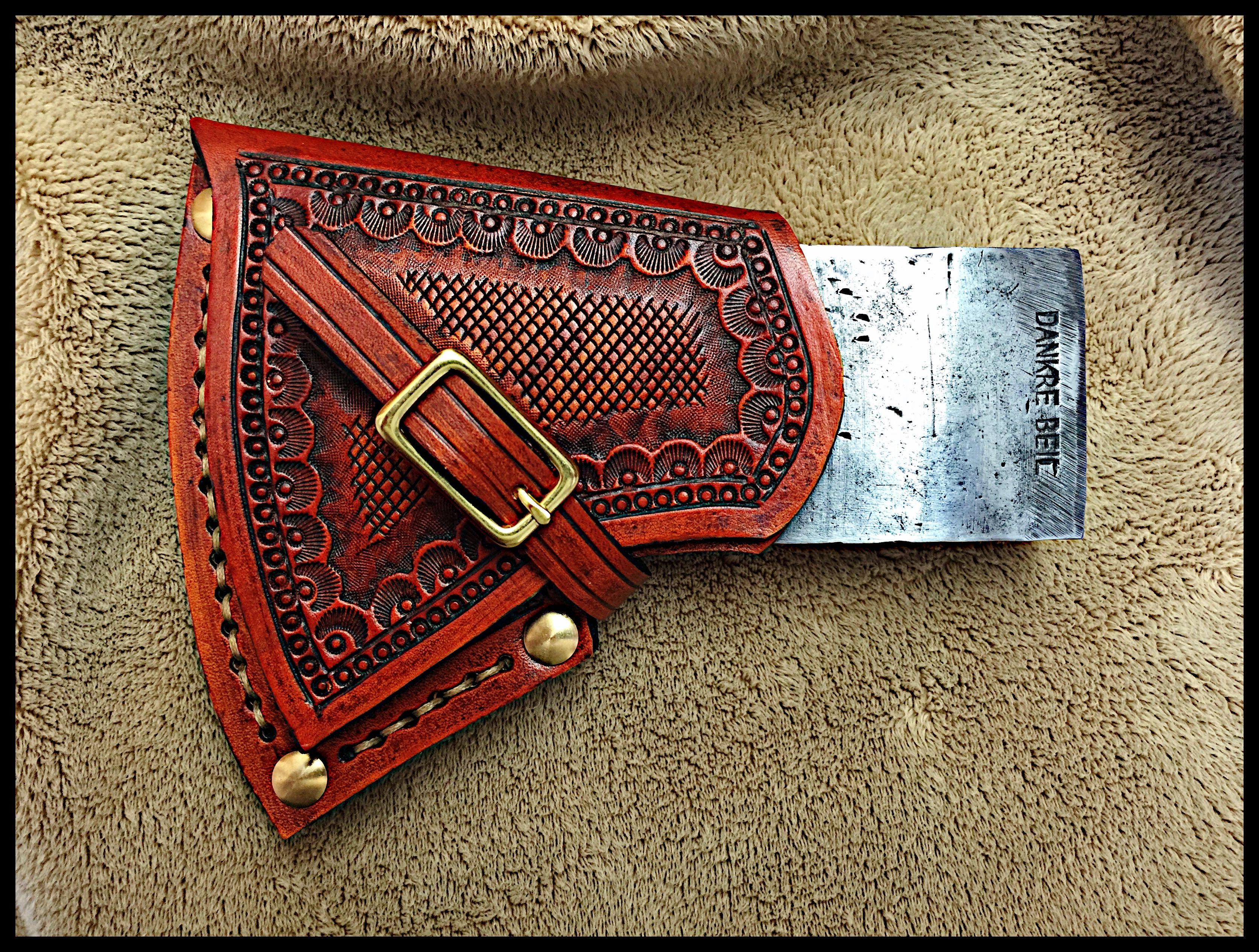 Custom Leather Sheath For An Quot Ochsenkopf Quot Ox Head Axe By