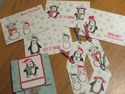 Christmas Cards and Tags using Snow Place by Stampin' Up, Video Tutorial