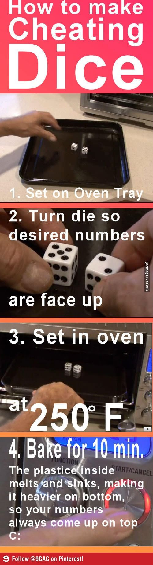 How to make cheating dice. ...better pin this -just in case!!