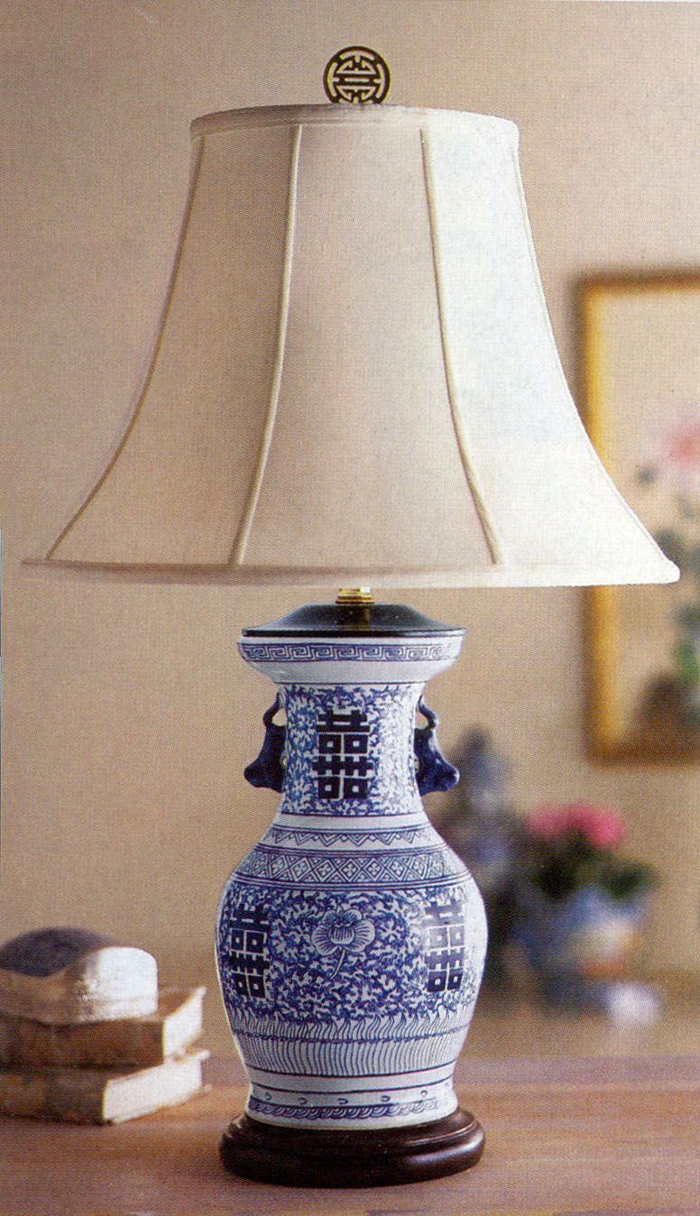 Double Hiness Chinese Lamp Blue And White China Lamps