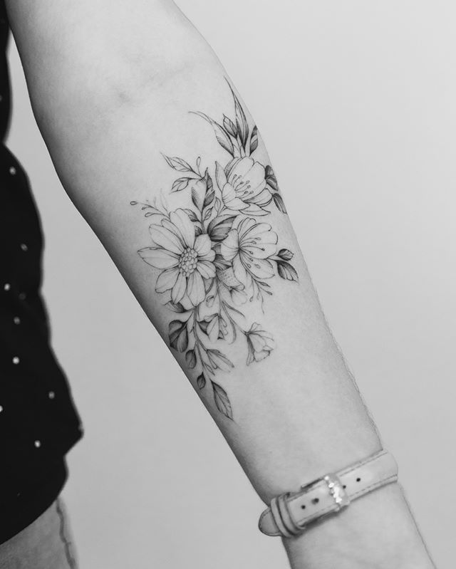 50 Floral arm tattoo designs for women 2019 Page 19 of 50