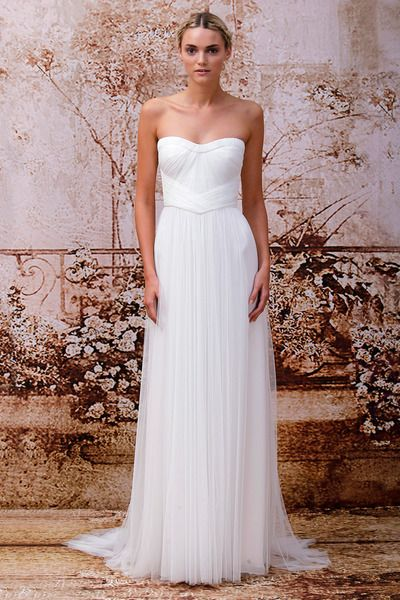 :: SIMPLE :: ELEGANT :: SPANISH TULLE :: Stunning wedding dress with unique bodice and flowing lines.  Emanuela | by Monique Lhuillier at wwwmoniquelhuillier.com #weddingdress #thedress #wedding #dresses #stylish #modern #elegant