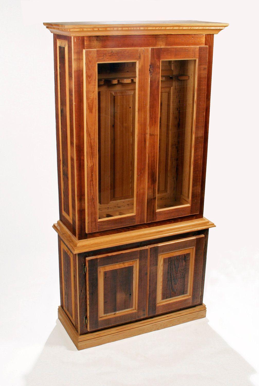 Reclaimed Wood Gun Cabinet - raised panels antique cypress handsome rustic. - Reclaimed Wood Gun Cabinet - Raised Panels Antique Cypress Handsome