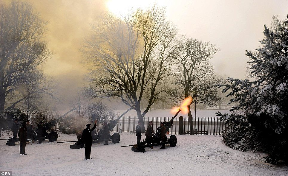 Bringing out the big guns: Gunners from The King's Troop Royal Horse Artillery…