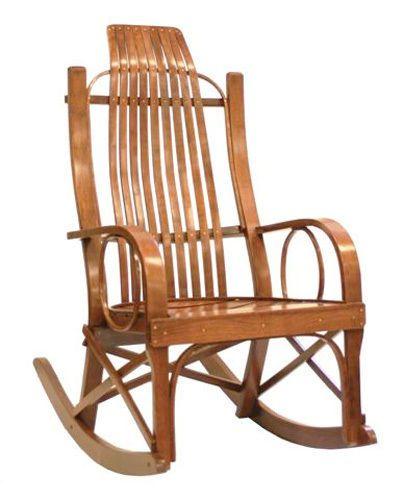 Amish Solid Cherry Rocking Chair Rocker Ebay
