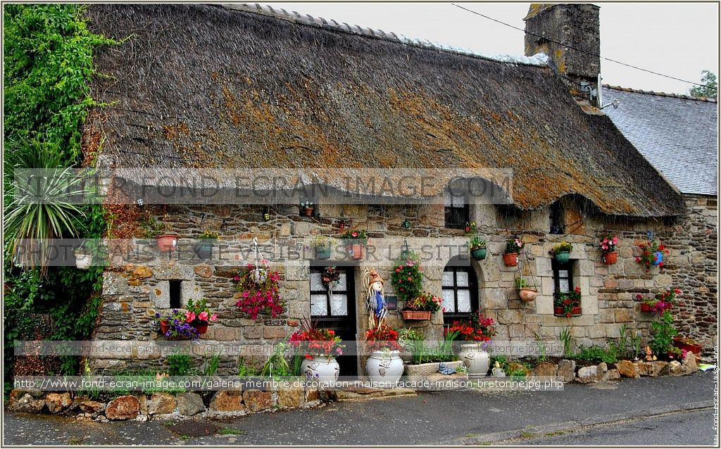 Decoration maison facade maison bretonne maisons Pinterest