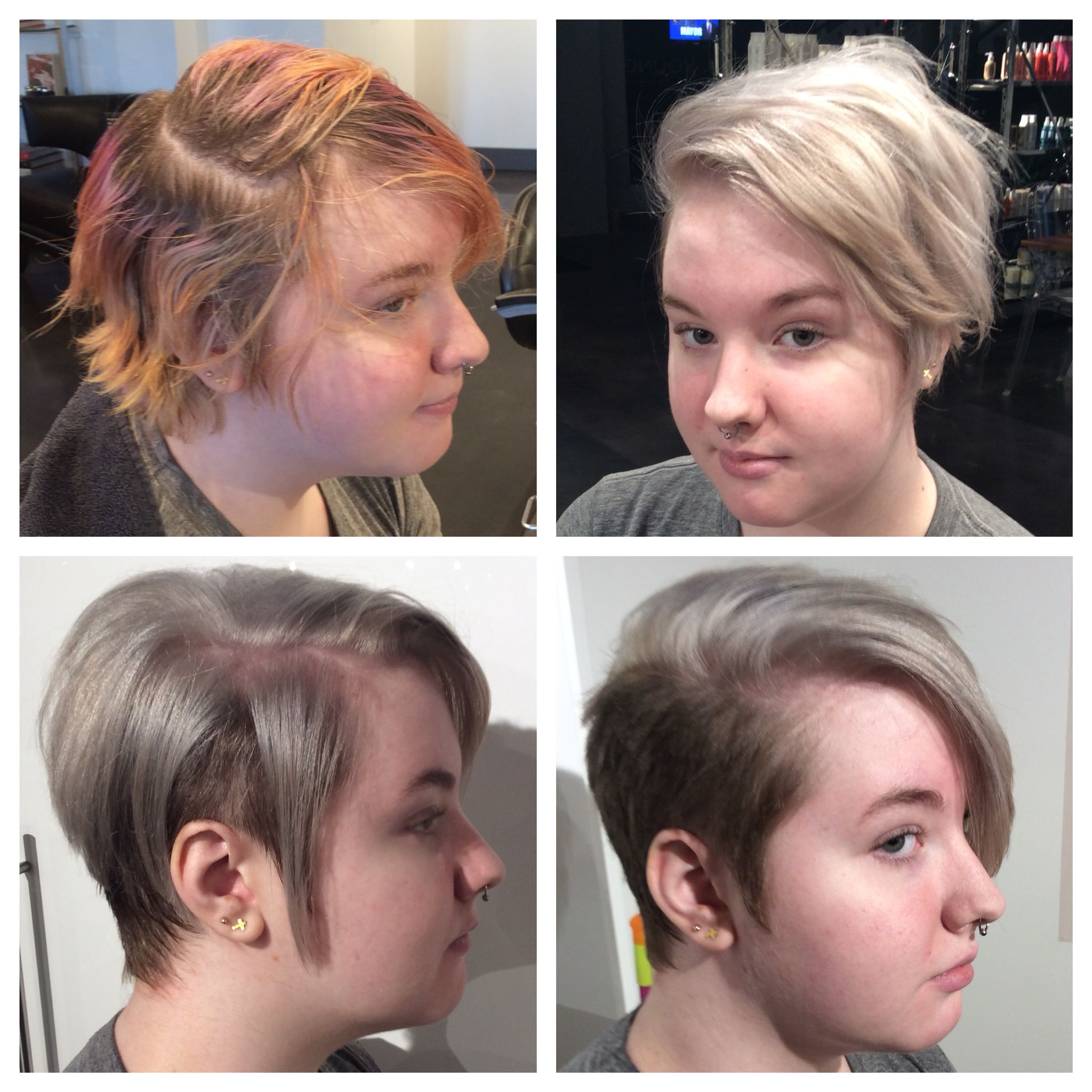 Before and after hair transformation Womens undercut Womens