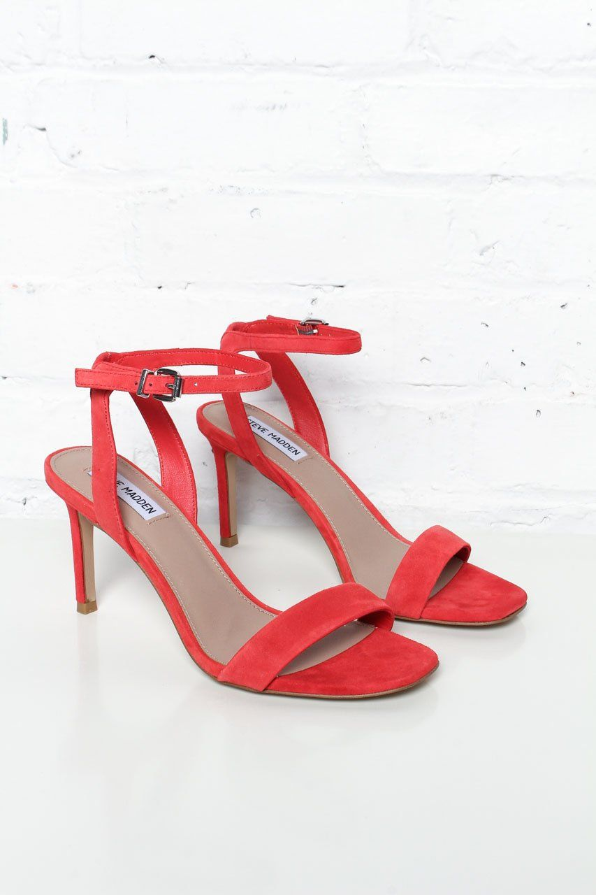 1efa87e1b42 Steve Madden Faith Stiletto Heels - Red Suede – Calico | Shoe Game ...