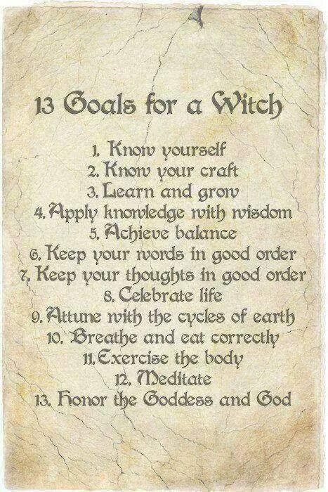 13 Goals for a Witch
