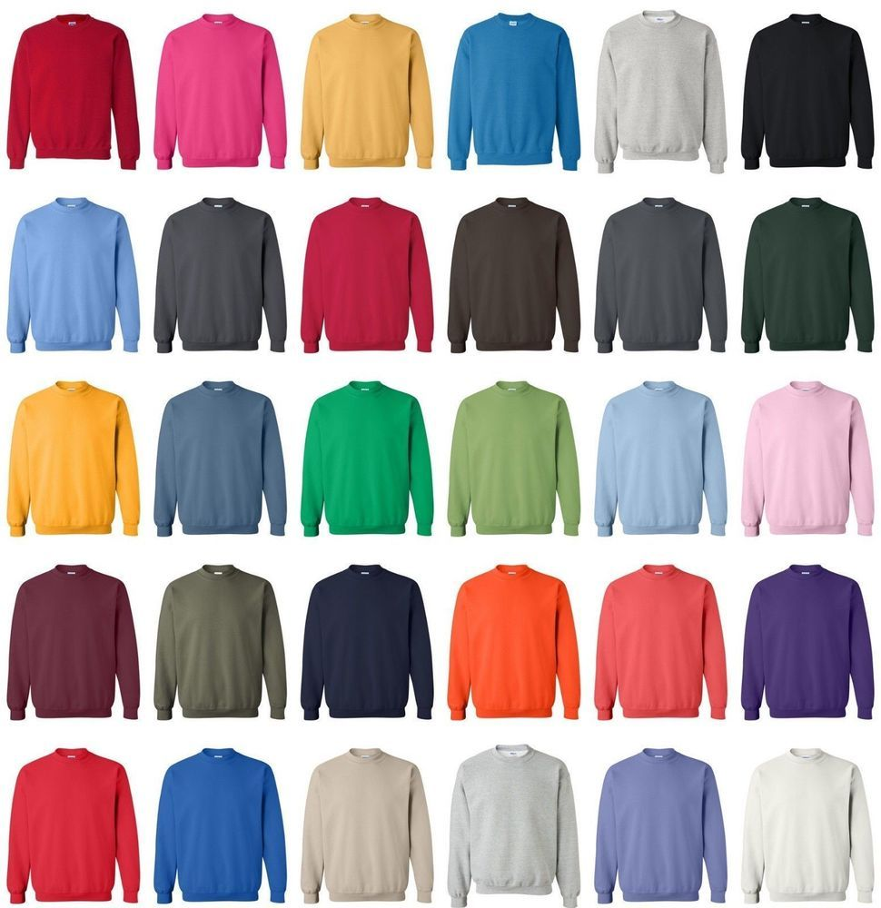 Gildan 18000 Unisex Size S 5xl Pullover Heavy Blend Crewneck Sweatshirt Jumper Ebay Crew Neck Sweatshirt Pullover Sweatshirts Long Sleeve Knit Tops [ 1000 x 970 Pixel ]