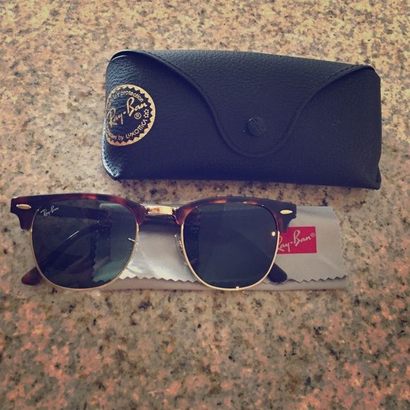 d5f916c38d Ray-Ban Clubmaster Classic Tortoise Sunglasses Ray-Ban Clubmaster Classic.  Tortoise and Gold