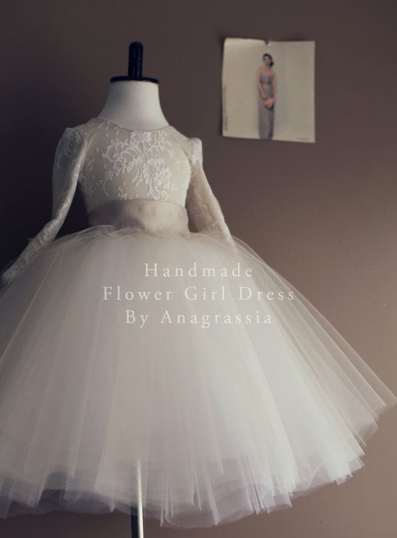 f66c094c116 Champagne Ivory Flower Girl Tulle Skirt by by Anagrassia on Etsy, for my  chocolate kisses