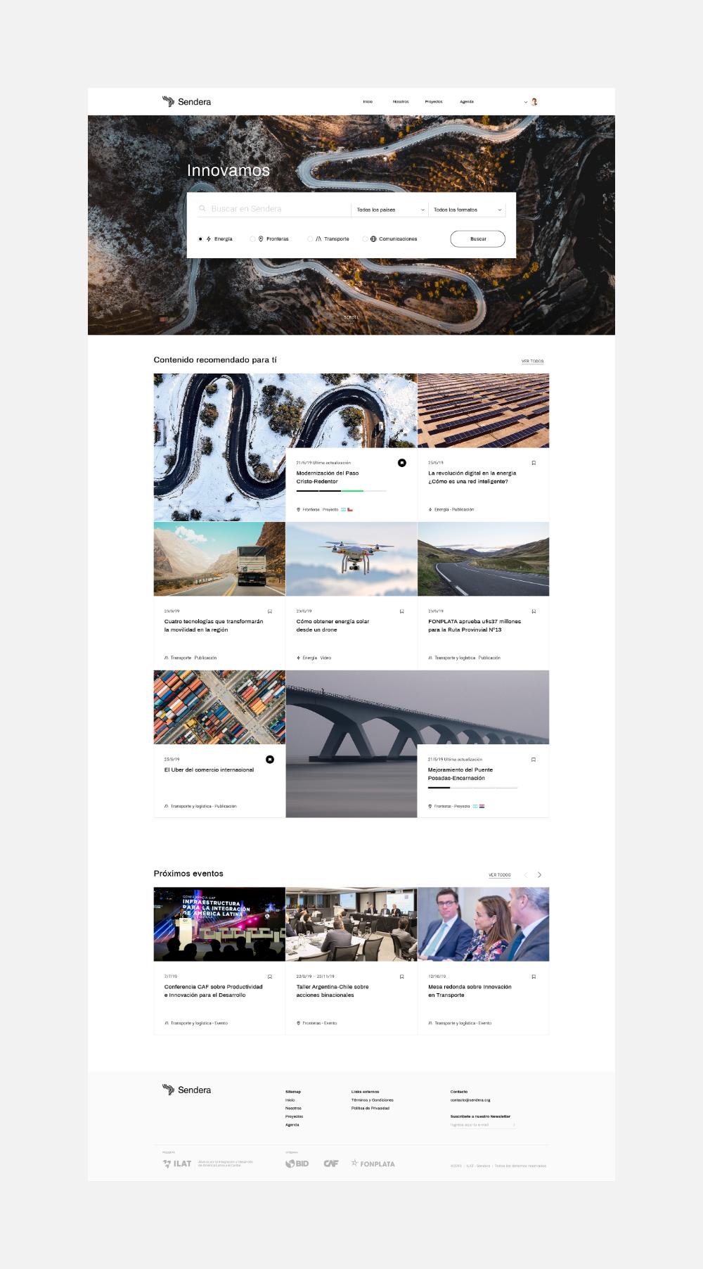 Sendera On Behance In 2020 Modern Web Design Digital Design Graphic Design Studios
