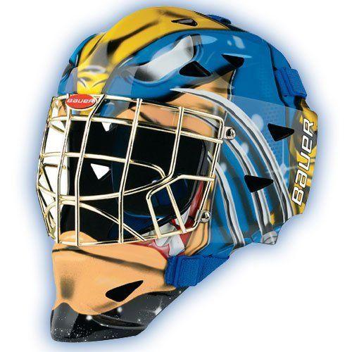 Bauer Nike Hockey Profile 1400 Marvel Senior Hockey Goalie Mask Wolverine Wolverine By Bauer 109 98 Bauer Pro Goalie Mask Hockey Equipment Hockey Goalie