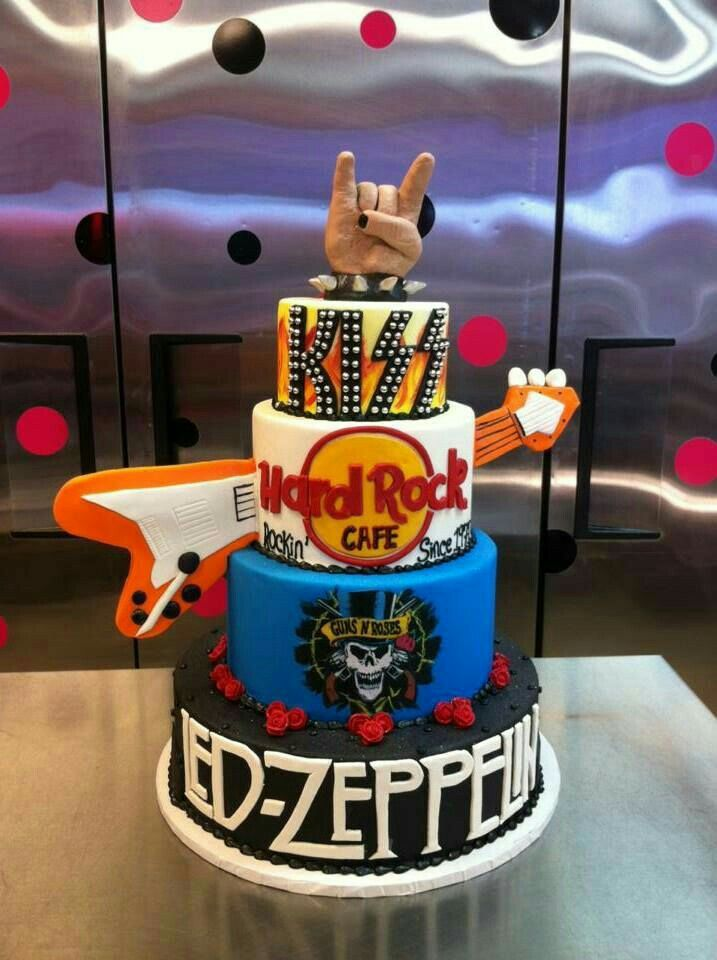 Pin by Thana Dunn on cake ideas (With images) | Music cakes, Rock cake, Dad birthday cakes