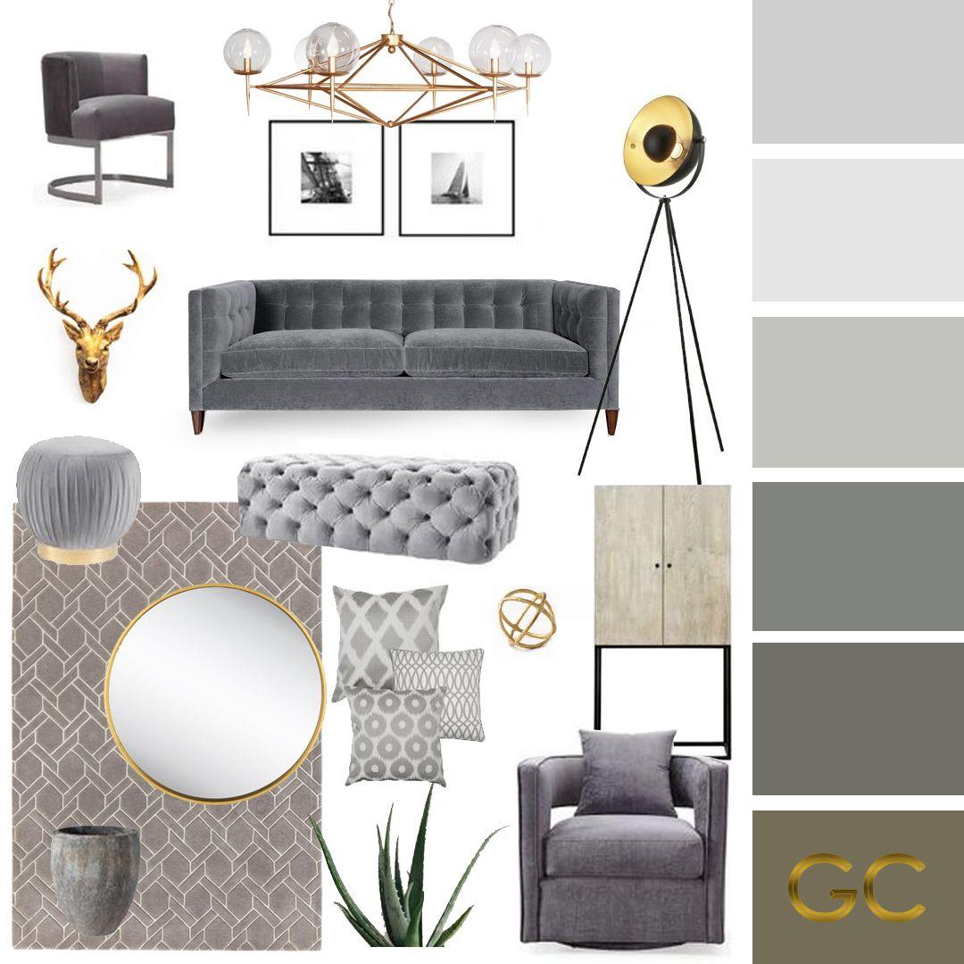 Grey Moodboard Living Room Mood Board Living Room Grey Sofa Living Room Gray Living Room Design View modern home decor living room png