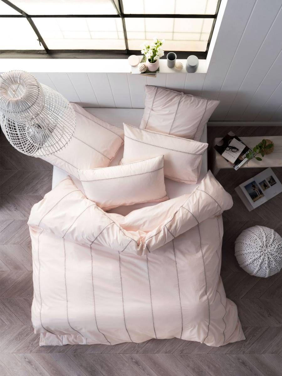 JEROME QUILT COVER SETS PINK SINGLE DOONA COVERS