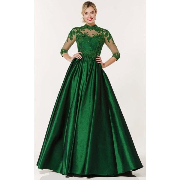 Alyce 27159 Ball Gown Long High Neckline Mid-Length ($578) ❤ liked ...