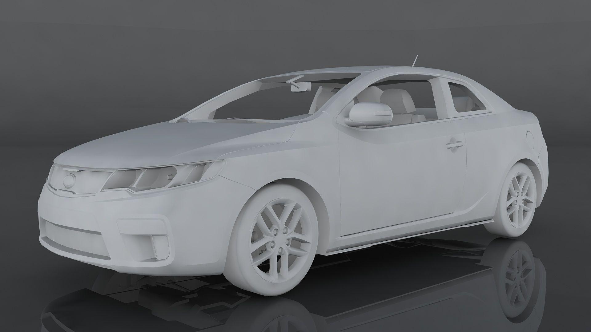 Kia Forte Koup Sx In 2020 Kia Forte Kia Low Poly 3d Models
