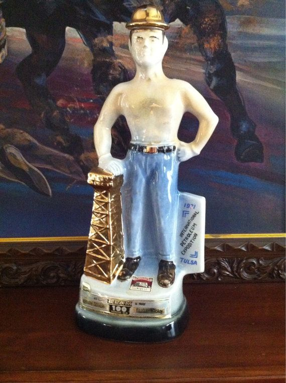 1971 Tulsa Driller Jim Beam Decanter by OilCapitalVintage on Etsy ...