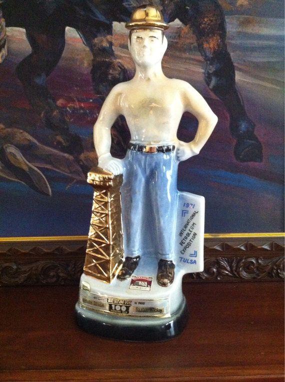 1971 Tulsa Driller Jim Beam Decanter by OilCapitalVintage ...