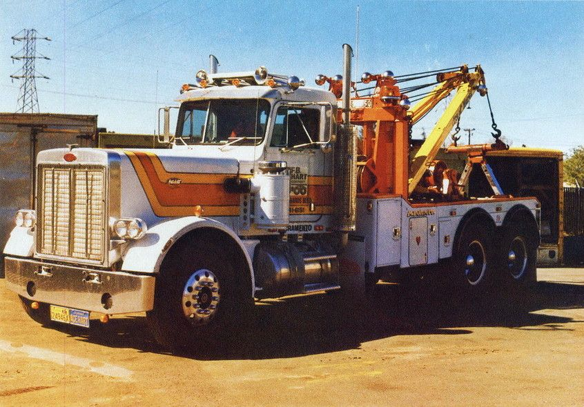 Vintage Peterbilt 379 Wrecker Tow truck, Heavy duty trucks
