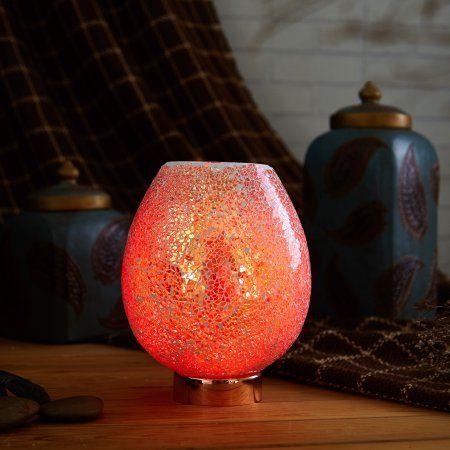 Salt Lamp Walmart Better Homes And Gardens Gold Himalayan Mosaic Glass Salt Lamp